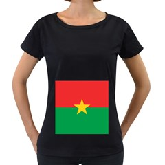 Flag Of Burkina Faso Women s Loose Fit T Shirt (black)