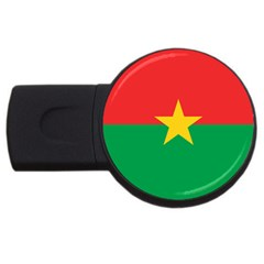 Flag Of Burkina Faso Usb Flash Drive Round (4 Gb)