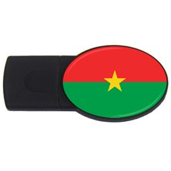 Flag Of Burkina Faso Usb Flash Drive Oval (4 Gb)