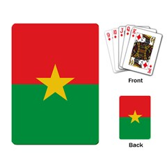 Flag Of Burkina Faso Playing Card