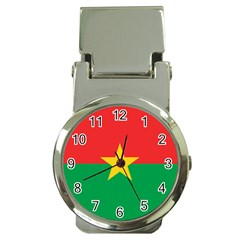 Flag Of Burkina Faso Money Clip Watches by abbeyz71