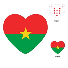 Flag Of Burkina Faso Playing Cards (heart)