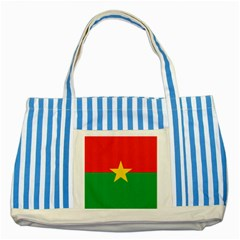 Flag Of Burkina Faso Striped Blue Tote Bag