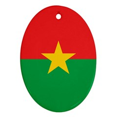 Flag Of Burkina Faso Oval Ornament (two Sides)