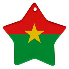 Flag Of Burkina Faso Star Ornament (two Sides)