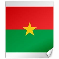 Flag Of Burkina Faso Canvas 8  X 10