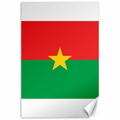 Flag Of Burkina Faso Canvas 24  X 36