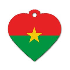 Flag Of Burkina Faso Dog Tag Heart (one Side)