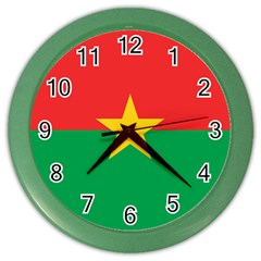 Flag Of Burkina Faso Color Wall Clocks