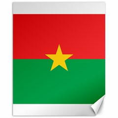 Flag Of Burkina Faso Canvas 11  X 14