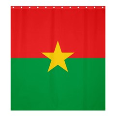 Flag Of Burkina Faso Shower Curtain 66  X 72  (large)