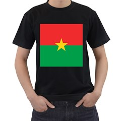 Flag Of Burkina Faso Men s T Shirt (black)