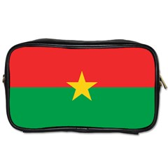 Flag Of Burkina Faso Toiletries Bags 2 Side