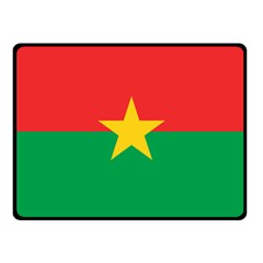 Flag Of Burkina Faso Fleece Blanket (small)