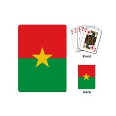 Flag Of Burkina Faso Playing Cards (mini)