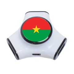 Flag Of Burkina Faso 3 Port Usb Hub