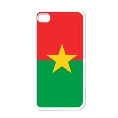 Flag Of Burkina Faso Apple Iphone 4 Case (white)