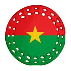 Flag Of Burkina Faso Round Filigree Ornament (two Sides)