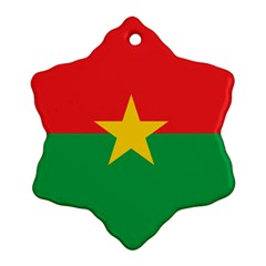 Flag Of Burkina Faso Snowflake Ornament (two Sides)
