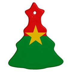 Flag Of Burkina Faso Christmas Tree Ornament (two Sides)