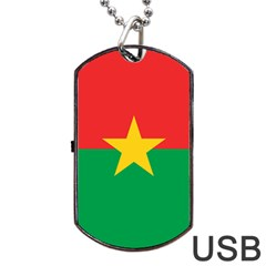Flag Of Burkina Faso Dog Tag Usb Flash (two Sides)