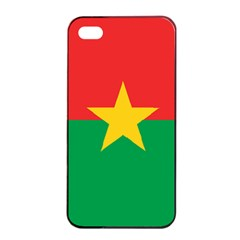Flag Of Burkina Faso Apple Iphone 4/4s Seamless Case (black)