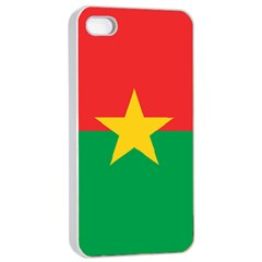 Flag Of Burkina Faso Apple Iphone 4/4s Seamless Case (white)