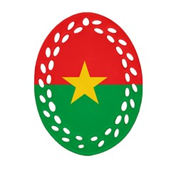 Flag Of Burkina Faso Oval Filigree Ornament (two Sides)