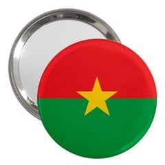 Flag Of Burkina Faso 3  Handbag Mirrors