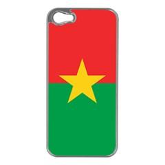Flag Of Burkina Faso Apple Iphone 5 Case (silver)