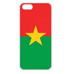 Flag Of Burkina Faso Apple Iphone 5 Seamless Case (white)