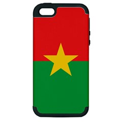 Flag Of Burkina Faso Apple Iphone 5 Hardshell Case (pc+silicone)