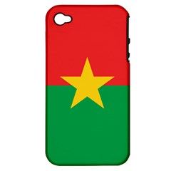 Flag Of Burkina Faso Apple Iphone 4/4s Hardshell Case (pc+silicone)