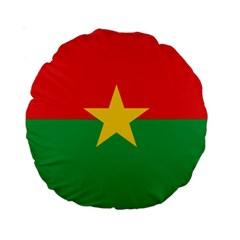 Flag Of Burkina Faso Standard 15  Premium Round Cushions