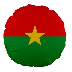 Flag Of Burkina Faso Large 18  Premium Round Cushions