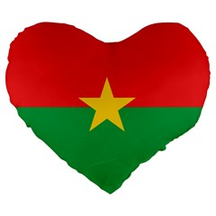 Flag Of Burkina Faso Large 19  Premium Heart Shape Cushions