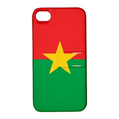 Flag Of Burkina Faso Apple Iphone 4/4s Hardshell Case With Stand