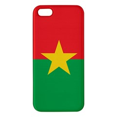 Flag Of Burkina Faso Apple Iphone 5 Premium Hardshell Case