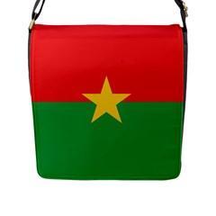 Flag Of Burkina Faso Flap Messenger Bag (l)