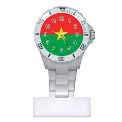 Flag Of Burkina Faso Plastic Nurses Watch