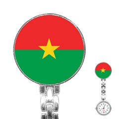 Flag Of Burkina Faso Stainless Steel Nurses Watch