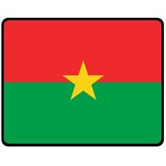 Flag Of Burkina Faso Double Sided Fleece Blanket (medium)