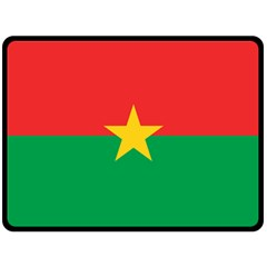 Flag Of Burkina Faso Double Sided Fleece Blanket (large)