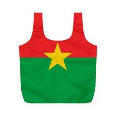 Flag Of Burkina Faso Full Print Recycle Bags (m)