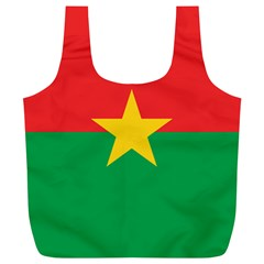 Flag Of Burkina Faso Full Print Recycle Bags (l)
