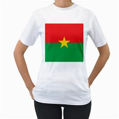 Flag Of Burkina Faso Women s T Shirt (white)