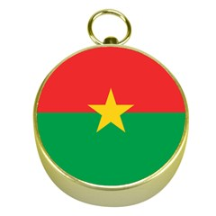 Flag Of Burkina Faso Gold Compasses