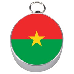 Flag Of Burkina Faso Silver Compasses