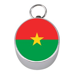 Flag Of Burkina Faso Mini Silver Compasses