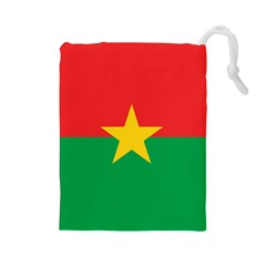 Flag Of Burkina Faso Drawstring Pouches (large)